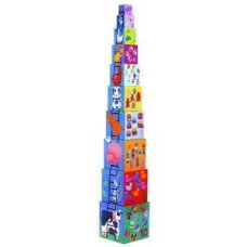 Djeco stacking tower animales de granja