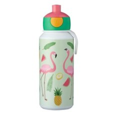 Botella de bebida Campus Pop-Up 400 ml Tropical Flamingo