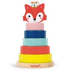 Janod Baby Forest torre apilable fox
