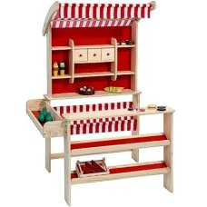 Playwood Houten Winkel Red (sin incluir accesorios)